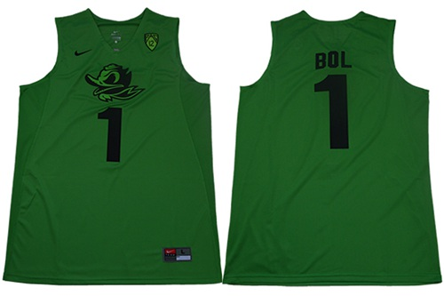 Ducks #1 Bol Bol Apple Green Limited Stitched College Jersey