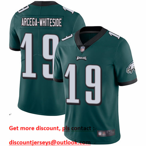 Eagles #19 JJ Arcega-Whiteside Midnight Green Team Color Men's Stitched Football Vapor Untouchable Limited Jersey
