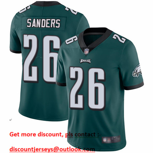 Eagles #26 Miles Sanders Midnight Green Team Color Men's Stitched Football Vapor Untouchable Limited Jersey