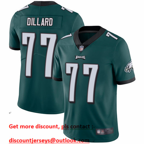 Eagles #77 Andre Dillard Midnight Green Team Color Men's Stitched Football Vapor Untouchable Limited Jersey
