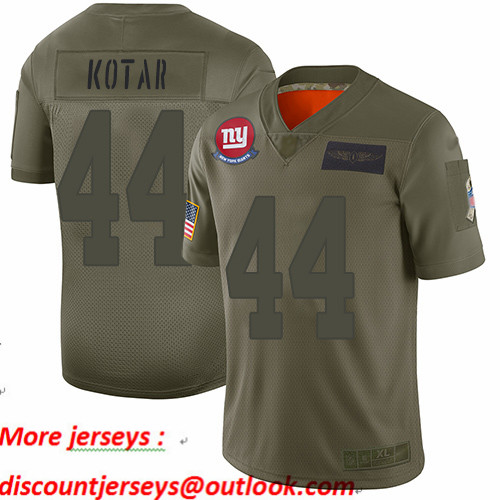 Giants #44 Doug Kotar Camo Youth Stitched Football Limited 2019 Salute to Service Jersey