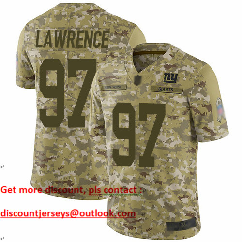 Giants #97 Dexter Lawrence Camo Youth Stitched Football Limited 2018 Salute to Service Jersey