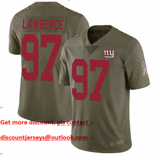 Giants #97 Dexter Lawrence Olive Youth Stitched Football Limited 2017 Salute to Service Jersey