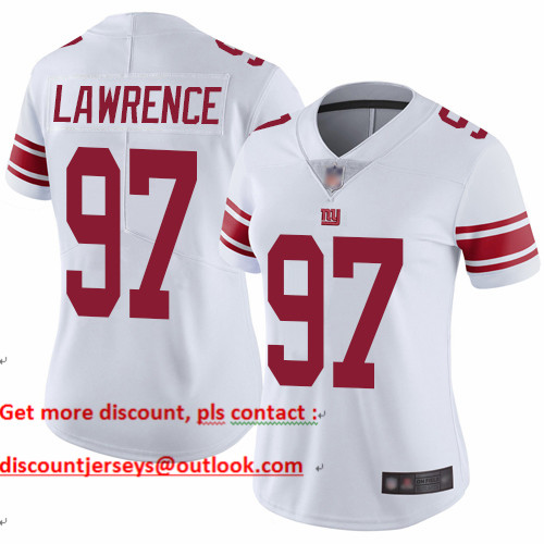 Giants #97 Dexter Lawrence White Women's Stitched Football Vapor Untouchable Limited Jersey