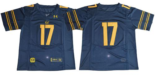 Golden Bears 2017 Fans Navy Blue Under Armour Premier Stitched NCAA Jersey