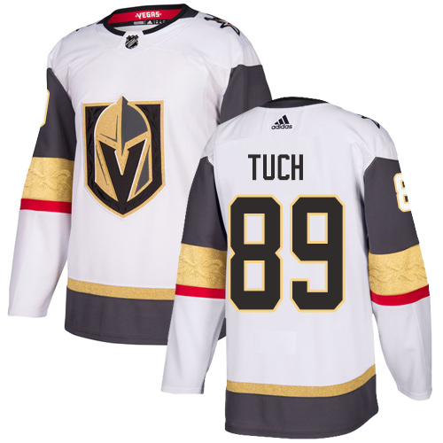 Golden Knights #89 Alex Tuch White Road Authentic Stitched Hockey Jersey