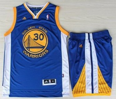 bfd6d142a64 Golden State Warriors 30 Stephen Curry Blue Revolution 30 Swingman Jerseys  Shorts NBA Suits