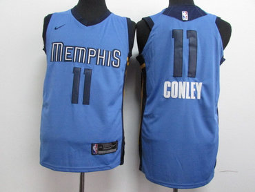 Grizzlies 11 Mike Conley Light Blue Nike Authentic Jersey