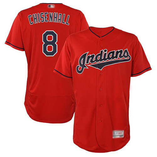 Indians #8 Lonnie Chisenhall Red Flexbase Authentic Collection Stitched Baseball Jersey