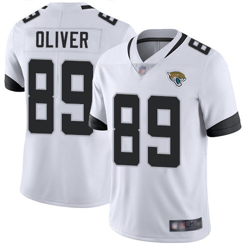 Jaguars #89 Josh Oliver White Youth Stitched Football Vapor Untouchable Limited Jersey