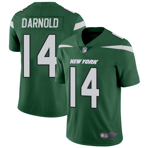 Jets #14 Sam Darnold Green Team Color Men's Stitched Football Vapor Untouchable Limited Jersey