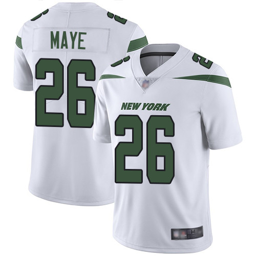 Jets #26 Marcus Maye White Men's Stitched Football Vapor Untouchable Limited Jersey