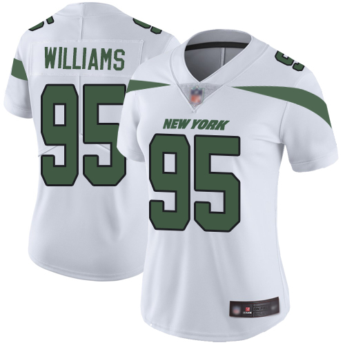 Jets #95 Quinnen Williams White Women's Stitched Football Vapor Untouchable Limited Jersey