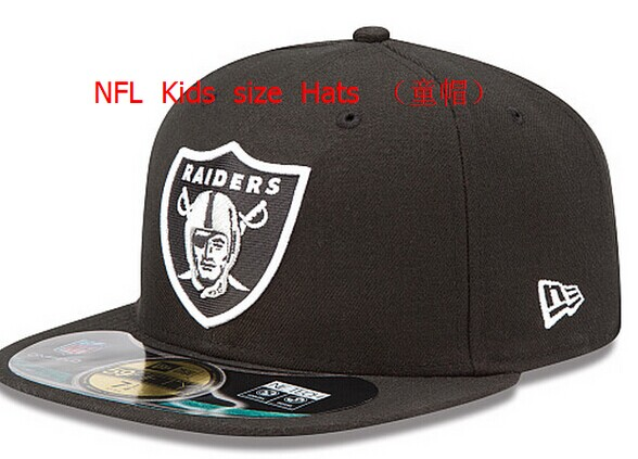 Kids NFL Raiders fitted black hat