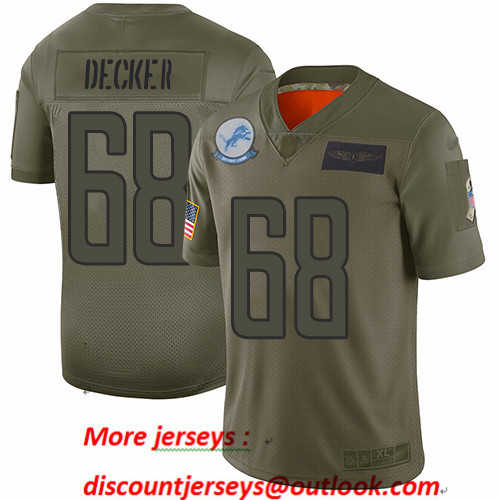 Lions #68 Taylor Decker Camo Men's Stitched Football Limited 2019 Salute To Service Jersey