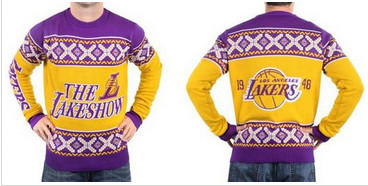 Los Angeles Lakers Men's NBA Ugly Sweater-1