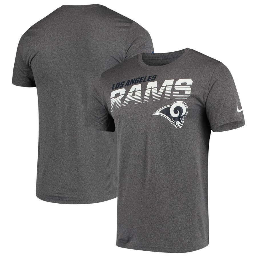 Los Angeles Rams Nike Sideline Line Of Scrimmage Legend Performance T-Shirt Heathered Gray