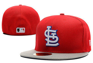 MLB St Louis Cardinals Fitted Hat Red --lx