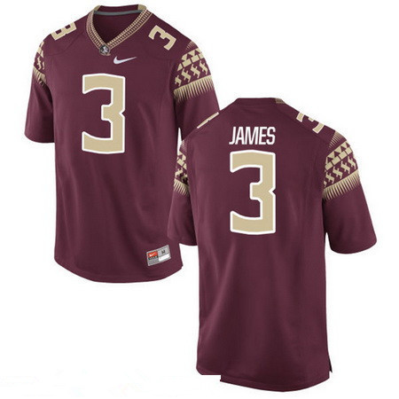 Men's Florida State Seminoles #3 Derwin James Red Stitched College Football 2016 Nike NCAA Jersey