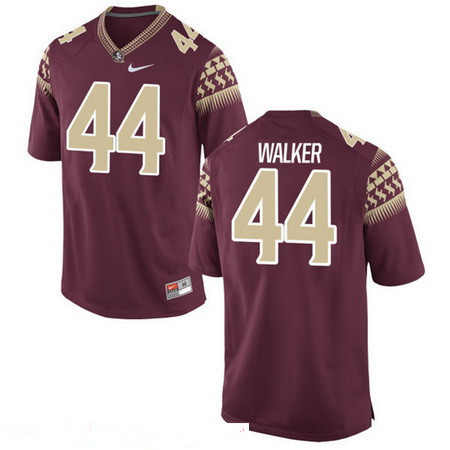 Men's Florida State Seminoles #44 DeMarcus Walker Red Stitched College Football 2016 Nike NCAA Jersey