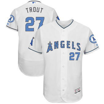 reputable site 0d88d ed449 Men's Day Trout Jersey Angels Father's Angeles Flexbase ...