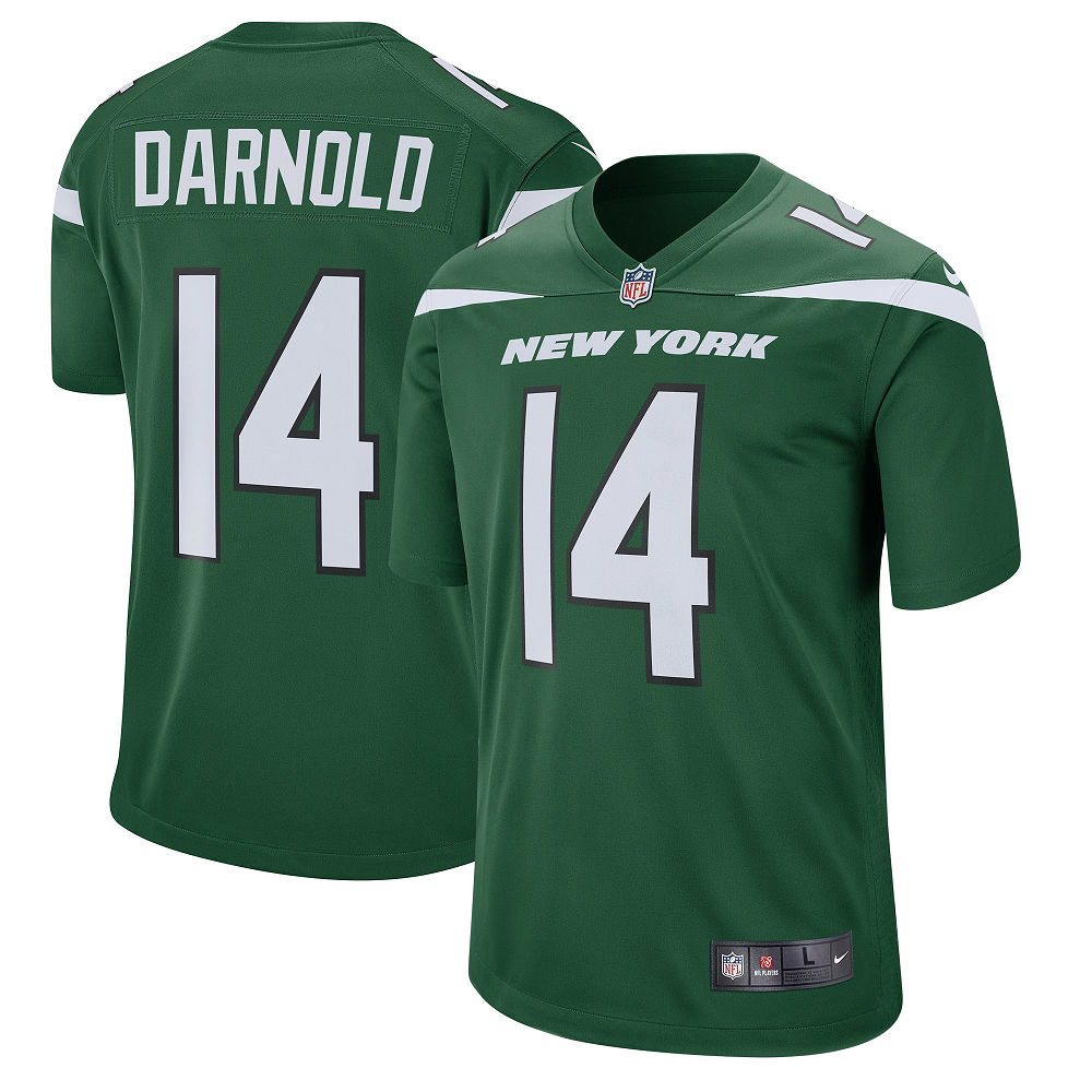 Men's New York Jets #14 Sam Darnold GREEN  Player Game Jersey