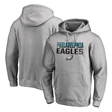 Men's Philadelphia Eagles NFL Pro Line By Fanatics Branded Ash Iconic Collection Fade Out Pullover Hoodie
