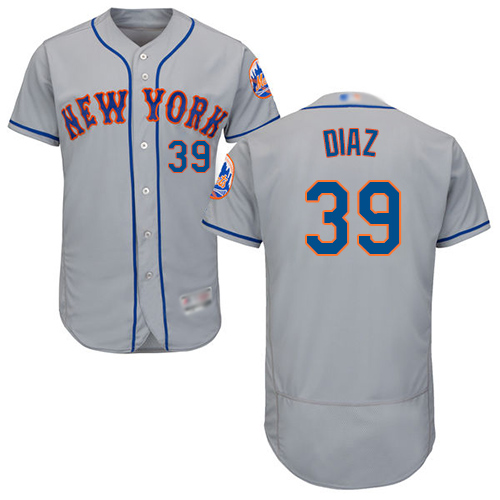 Mets #39 Edwin Diaz Grey Flexbase Authentic Collection Stitched Baseball Jersey