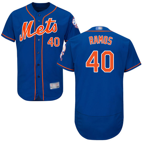 Mets #40 Wilson Ramos Blue Flexbase Authentic Collection Stitched Baseball Jersey