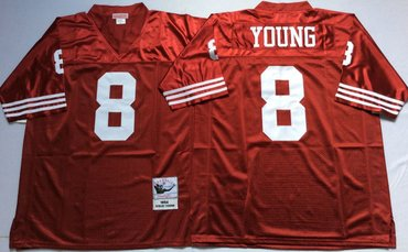 Nice san francisco 49ers #21 deion sanders red 75th throwback jersey