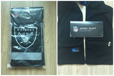 NFL Oakland Raiders Jersey Scarf With Zip Pocket