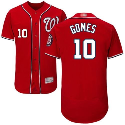 Nationals #10 Yan Gomes Red Flexbase Authentic Collection Stitched Baseball Jersey