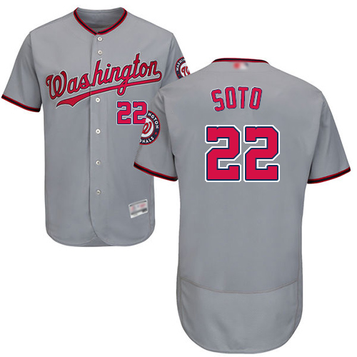 Nationals #22 Juan Soto Grey Flexbase Authentic Collection Stitched Baseball Jersey