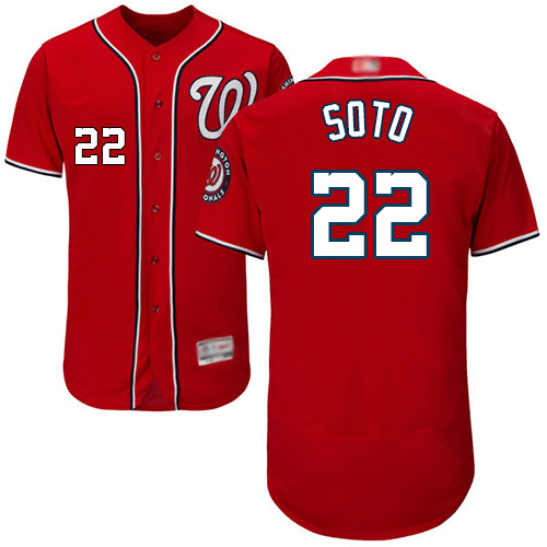 Nationals #22 Juan Soto Red Flexbase Authentic Collection Stitched Baseball Jersey