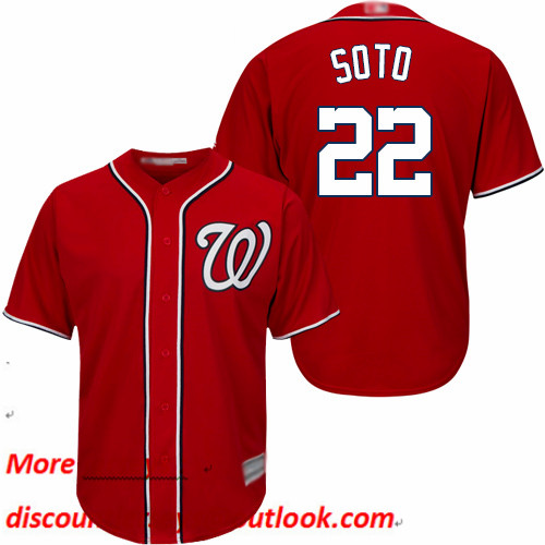 Nationals #22 Juan Soto Red New Cool Base Stitched Baseball Jersey