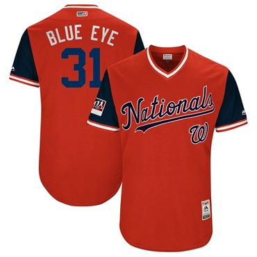 Nationals #31 Max Scherzer Red Blue Eye Players Weekend Authentic Stitched MLB Jersey
