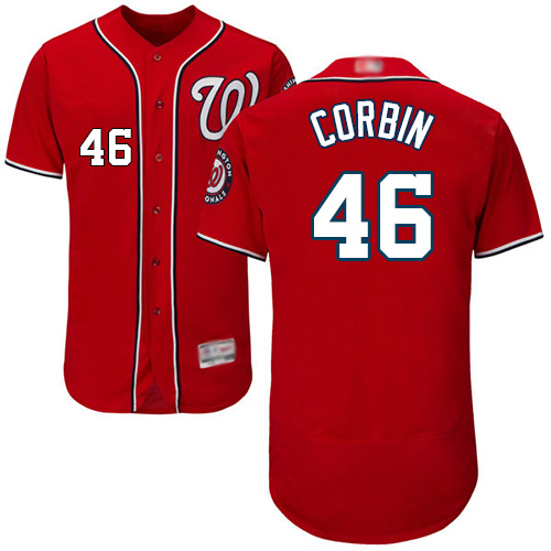 Nationals #46 Patrick Corbin Red Flexbase Authentic Collection Stitched Baseball Jersey