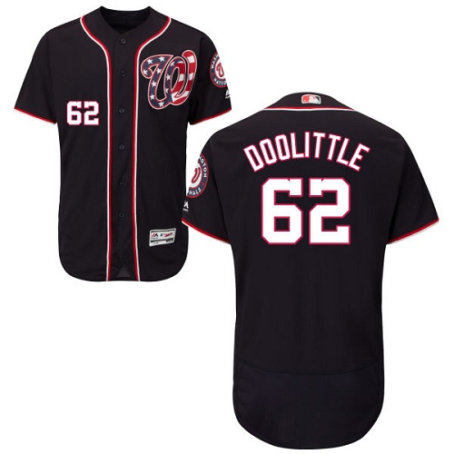 Nationals #62 Sean Doolittle Navy Blue Flexbase Authentic Collection Stitched Baseball Jersey