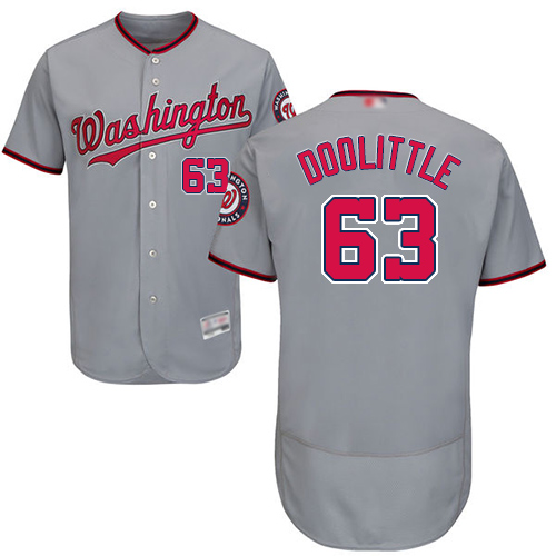 Nationals #63 Sean Doolittle Grey Flexbase Authentic Collection Stitched Baseball Jersey