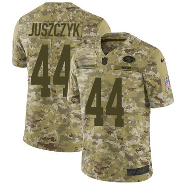 Nike 49ers #44 Kyle Juszczyk Camo Youth Stitched NFL Limited 2018 Salute to Service Jersey