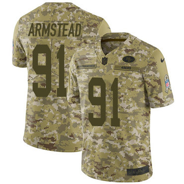 Nike 49ers #91 Arik Armstead Camo Youth Stitched NFL Limited 2018 Salute to Service Jersey