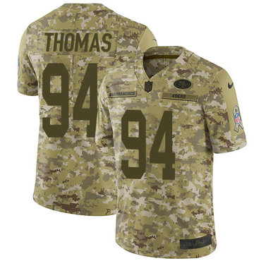 Nike 49ers #94 Solomon Thomas Camo Youth Stitched NFL Limited 2018 Salute to Service Jersey
