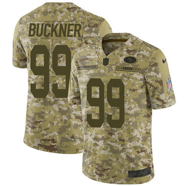 Nike 49ers #99 DeForest Buckner Camo Youth Stitched NFL Limited 2018 Salute to Service Jersey