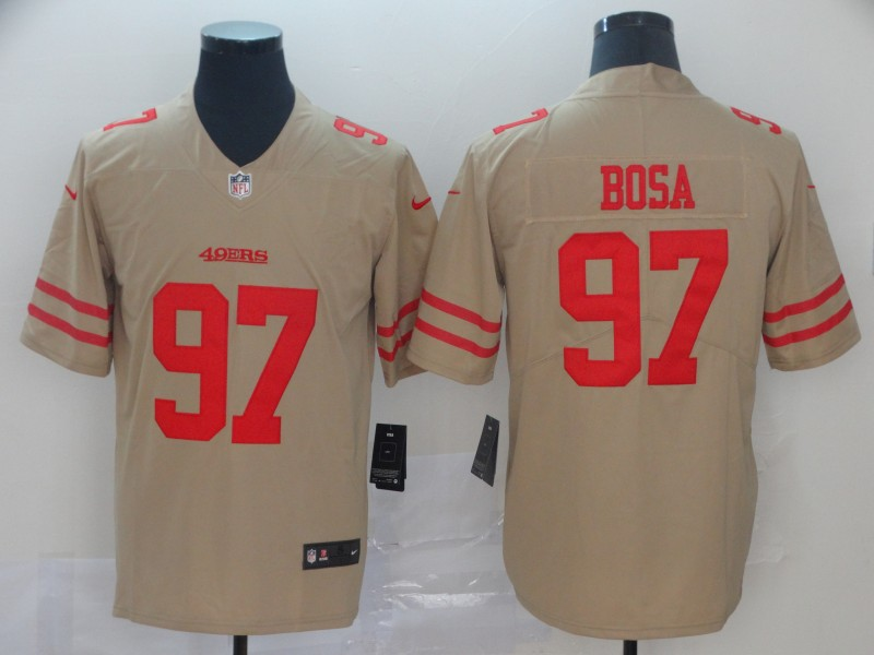 Nike 49ers 97 Nick Bosa Cream Inverted Legend Limited Jersey