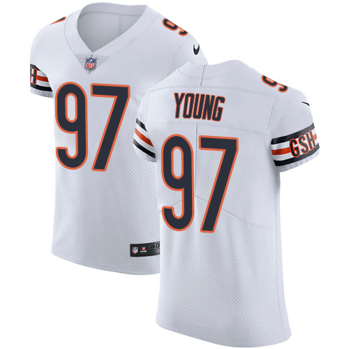 size 40 9f5fd 51bde Nike Bears #97 Willie Young White Men's Stitched NFL Vapor ...