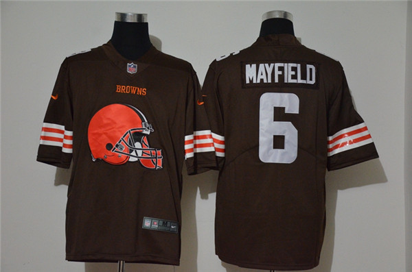 Nike Browns 6 Baker Mayfield Brown Vapor Untouchable Limited Jersey