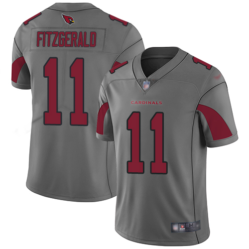 Nike Cardinals #11 Larry Fitzgerald Silver Men's Stitched Football Limited Inverted Legend Jersey