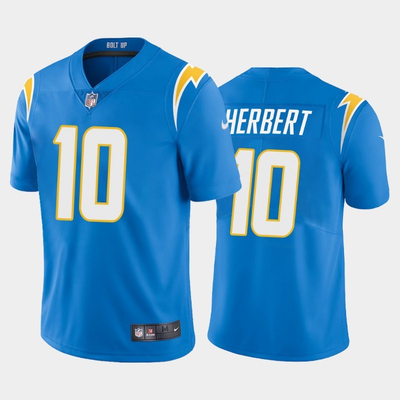 Nike Chargers 10 Justin Herbert Light Blue 2020 NFL Draft First Round Pick Vapor Untouchable Limited Jersey