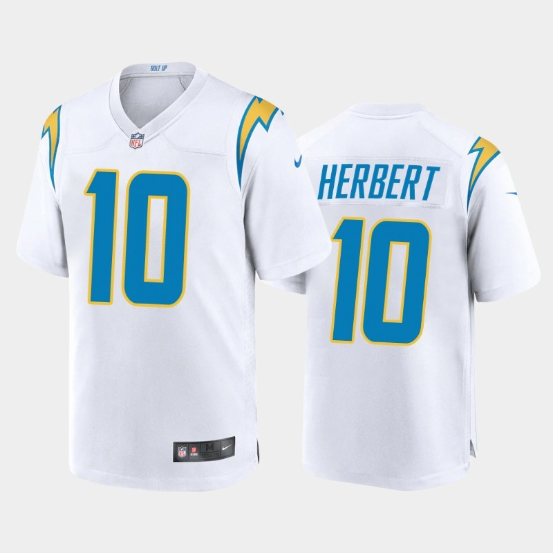 Nike Chargers 10 Justin Herbert White 2020 NFL Draft First Round Pick Vapor Untouchable Limited Jersey
