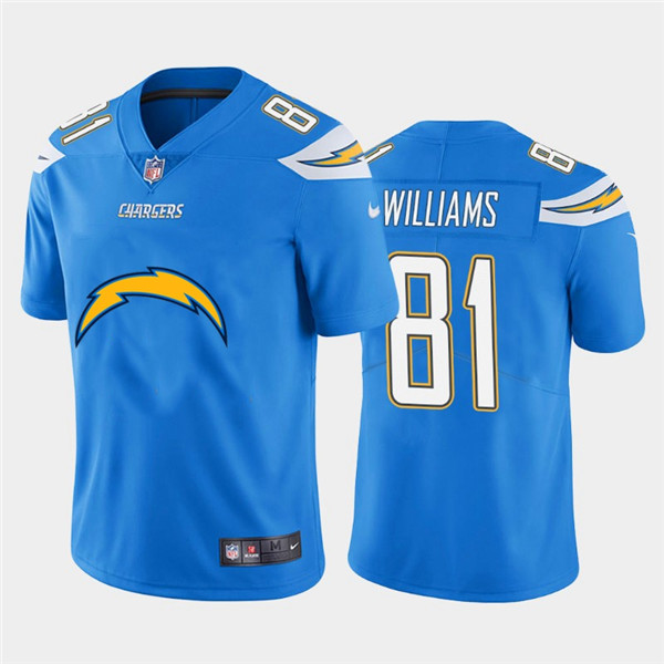 Nike Chargers 81 Mike Williams Blue Team Big Logo Vapor Untouchable Limited Jersey